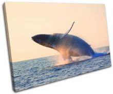 Whale Blue Sunset Seascape - 13-0163(00B)-SG32-LO
